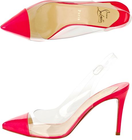 Christian Louboutin Un Bout Sling 85mm Shoe in Pink - Lyst