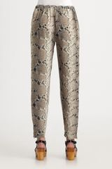 Elizabeth And James Snakeprint Nuri Pants in Beige (natural) - Lyst