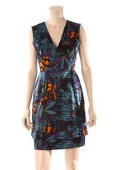 Erdem Jun Vneck Dress - Lyst