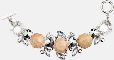 Givenchy Wood Crystal Line Bracelet in Silver (silver/ clear crystal) - Lyst