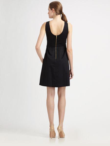 Kate spade jillian bow dress in black lyst