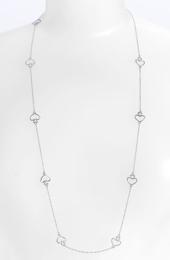 Kate Spade Open Spade Long Necklace - Lyst