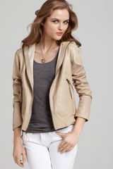 Laundry By Shelli Segal Laundry By Shelli Segal Dolce Leather Hooded Jacket - Lyst