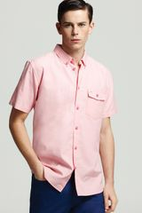 Marc By Marc Jacobs Oxford Short Sleeve Sport Shirt Slim Fit - Lyst