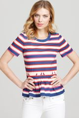 Marc By Marc Jacobs Top Flavin Stripe Peplum - Lyst
