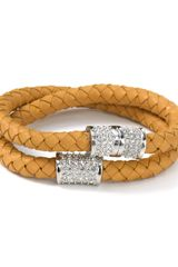 Michael Kors Michael Braided Natural Wrap Bracelet - Lyst