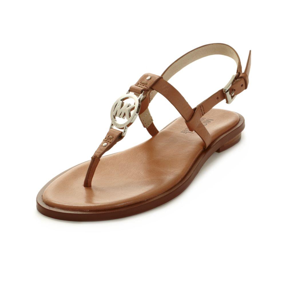 6acc3f388bf3da Lyst - Michael Kors Sondra Flat Sandals in Brown
