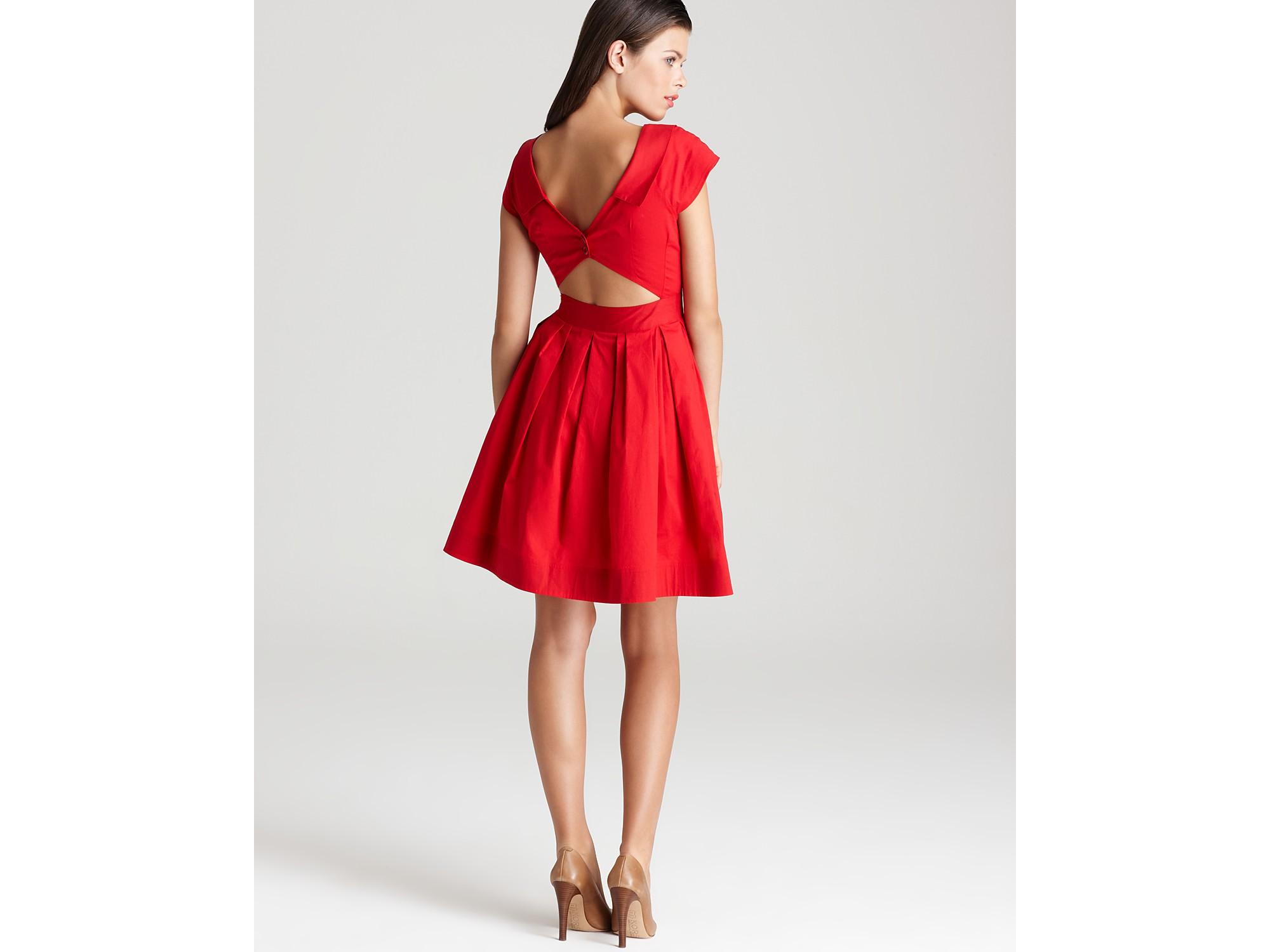 Nanette lepore Dress Short Sleeve San Fernando in Red  Lyst