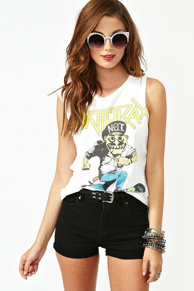 Nasty Gal Highway Denim Shorts Black in Blue (denim) - Lyst