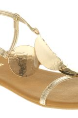 Office Santorini Sandal Gold Leather - Lyst