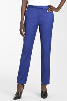T By Alexander Wang Crop Twill Trousers - Lyst