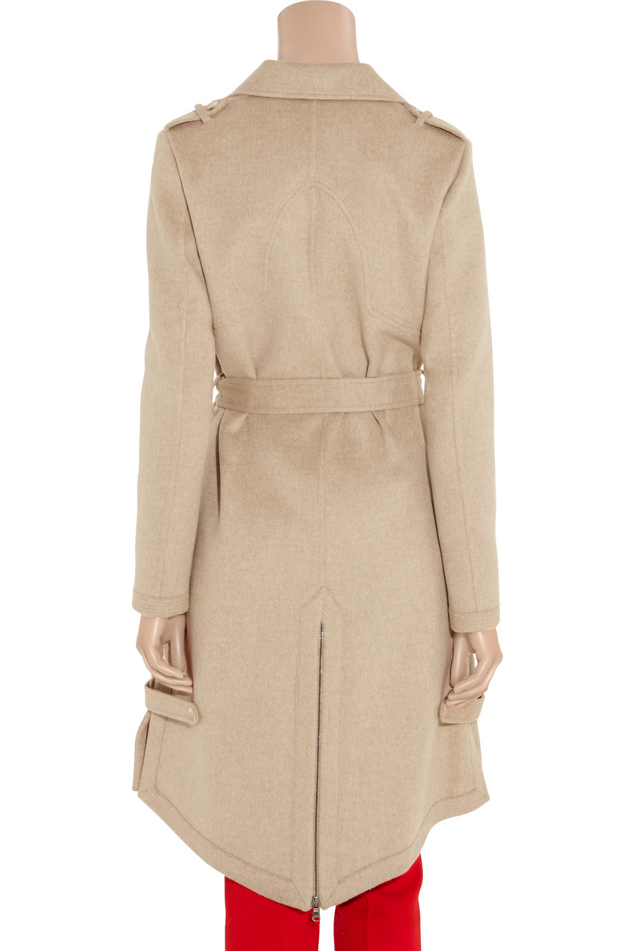 Thakoon Wool Blend Felt Trench Coat In Natural Lyst