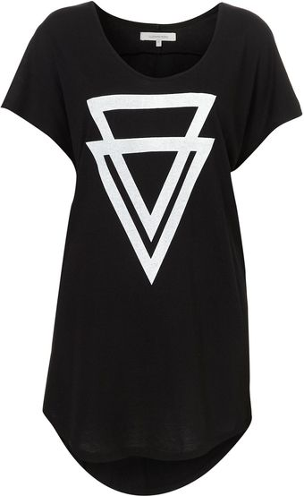 Topshop Double Triangle Tshirt By Illustrated People - Lyst