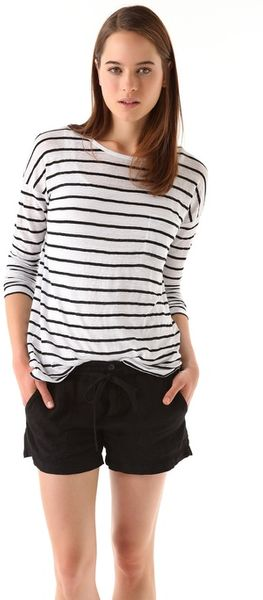 Vince Striped Tee - Lyst