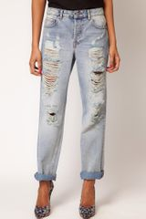 ASOS Collection Asos Boyfriend Jean with Ripped Detail - Lyst