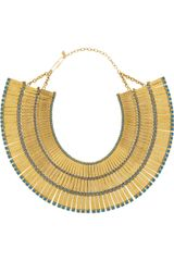 Aurelie Bidermann Mendoza 18karat Goldplated Enameled Necklace