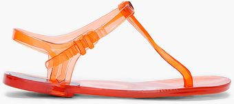 Chloé Orange Jelly Sandals - Lyst