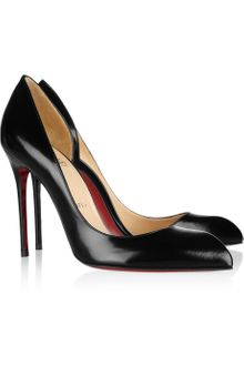 Christian Louboutin Chiarana 100 Cutout Leather Pumps - Lyst