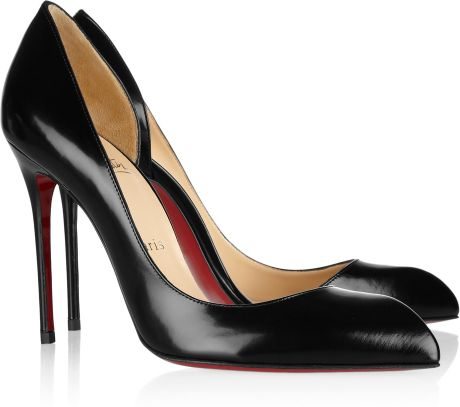 Christian Louboutin Chiarana 100 Cutout Leather Pumps in Black - Lyst