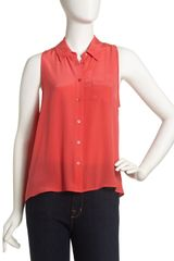 Equipment Nina Sleeveless Silk Blouse Hibiscus - Lyst