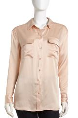 Equipment Signature Satin Blouse - Lyst