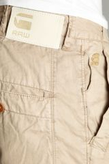 G-star Raw Bronson Tapered Chino Shorts in Khaki for Men - Lyst
