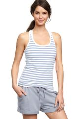 Gap Gapfit Striped Racerback Tank - Lyst