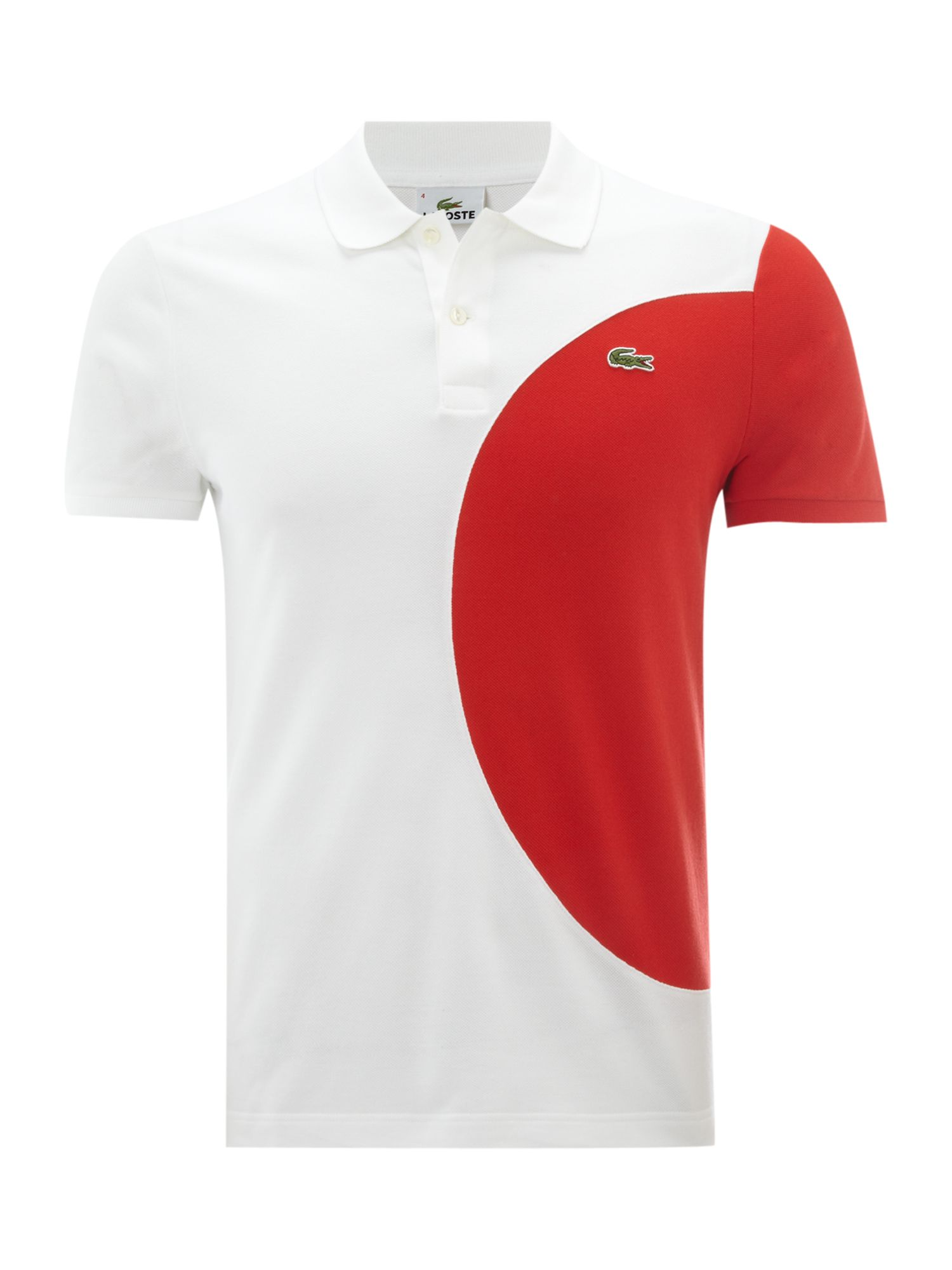 lacoste slim fit japan flag polo shirt in white for men lyst. Black Bedroom Furniture Sets. Home Design Ideas
