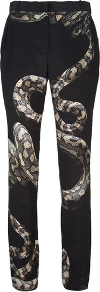 Lanvin Snake Trouser in Black (snake) - Lyst