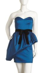 Mark + James By Badgley Mischka Strapless Shantung Dress - Lyst