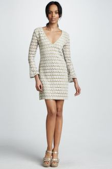 Mark + James By Badgley Mischka Crocheted Lace Cocktail Dress - Lyst