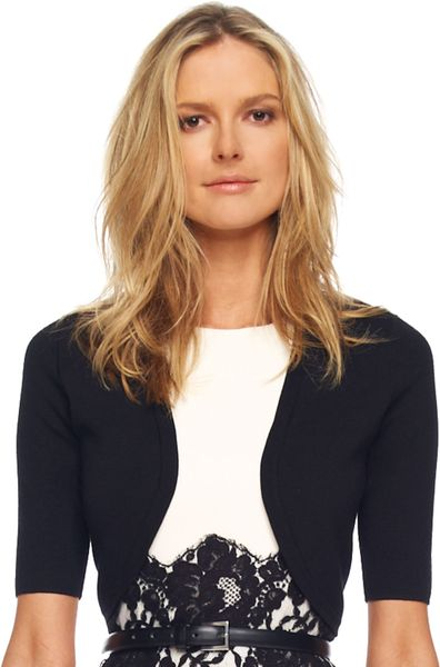 Michael Kors Merino Halfsleeve Shrug Black in Black