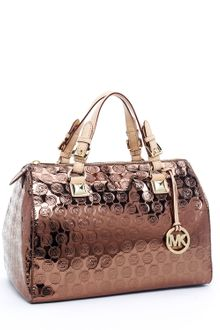Michael Kors Grayson Large Jet Set Monogram Satchel - Lyst