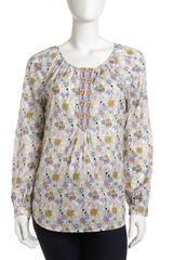 Robert Graham Olympia Heart Print Blouse - Lyst