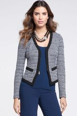 St. John Collection Spencer Tweed Knit Jacket - Lyst