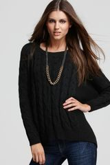 Vince Camuto Cabled Back Zip Sweater - Lyst