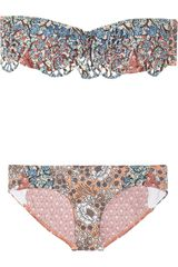 Zimmermann Collector Printed Bandeau Bikini