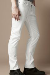 Burberry Steadman White Rinse Slim Fit Jeans - Lyst