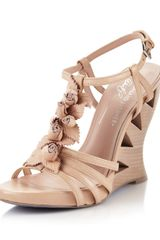 Donald J Pliner Bambi Wedge Sandal Rose - Lyst