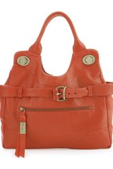 Foley + Corinna Mini Jetset Leather Tote Coral - Lyst