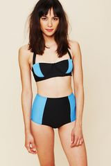 Free People High Waist Colorblock Bottoms - Lyst