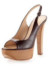 Giuseppe Zanotti Patent Leather Slingback Pump Bordeaux - Lyst