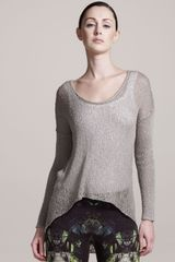 Helmut Lang Asymmetric Looped Top String - Lyst