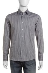 Hugo Boss Striped Sport Shirt Blackgray - Lyst