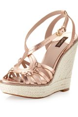 Joan And David Dreena Wedge Rose Gold - Lyst