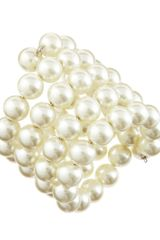 Kenneth Jay Lane Fourrow Pearlescent Bracelet - Lyst