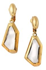 Kenneth Jay Lane Small Drop Crystal Earrings - Lyst