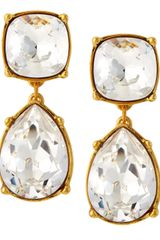Kenneth Jay Lane Twotier Crystal Earrings - Lyst