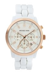 Michael Kors Rose Golden White Watch - Lyst