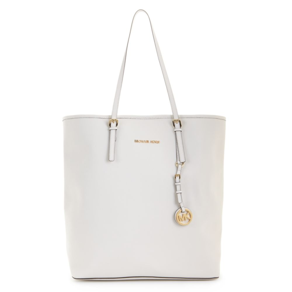 904bda2398 ... best price lyst michael kors jet set travel saffiano leather large ns  tote in 74956 29305